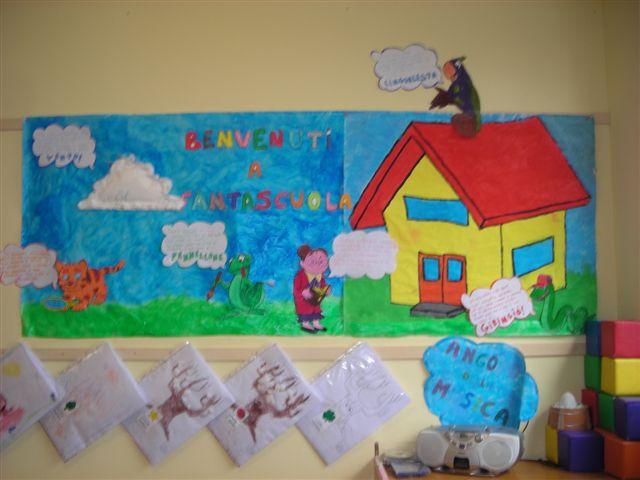 Accoglienza lavoretti canzoni disegni filastrocche for Addobbi aula scuola primaria accoglienza