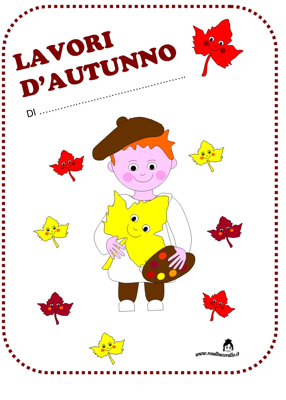 Ben noto Autunno lavoretti disegni poesie per bambini OR99