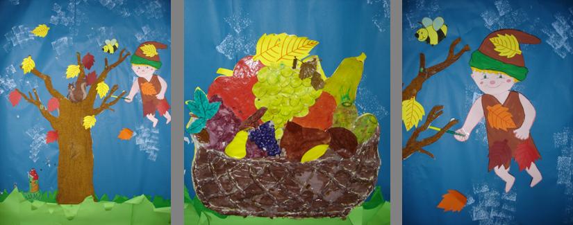 Autunno lavoretti disegni poesie per bambini for Addobbi autunno scuola infanzia