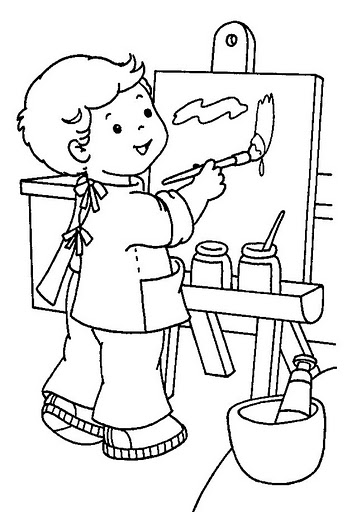 artist coloring pages for preschool - photo #3