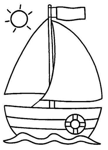 Estate disegni da colorare per bambini - Dessin bateau enfant ...