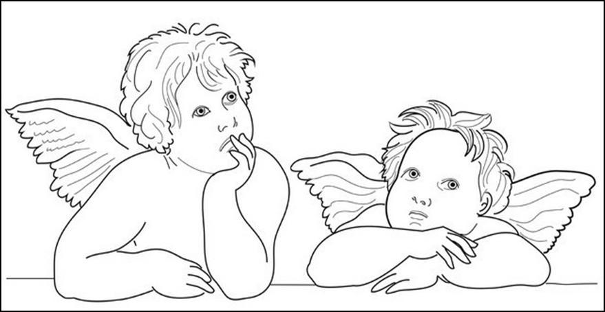 Disegni quadri famosi da colorare for Disegni di angeli da colorare per bambini