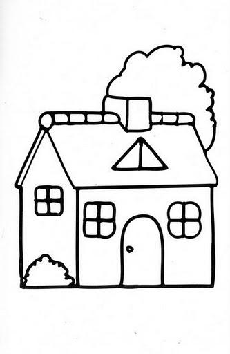 Disegni da colorare schede operative - Disegni di casa da colorare per bambini ...