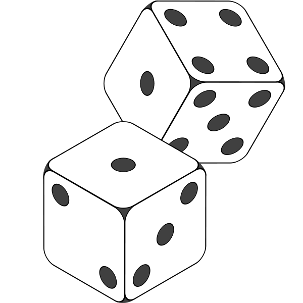 20 dice black and white template of a daffodil