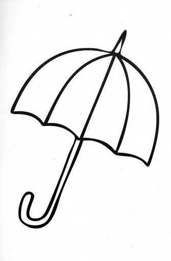 Картинка раскраска зонт