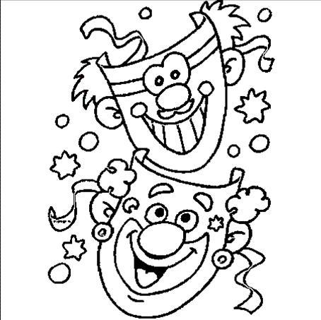 Disegni carnevale per bambini for Disegno pagliaccio da colorare