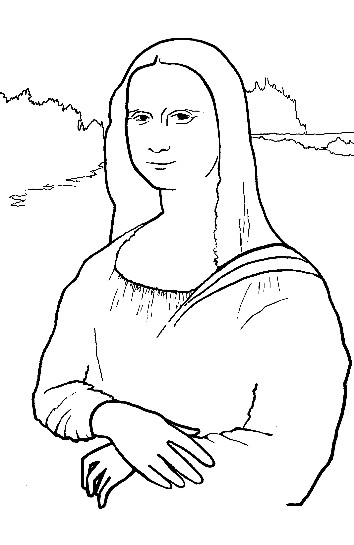 mona lisa coloring pages - photo#22