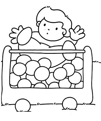 Disegni attivit scuola dell 39 infanzia for Amazon piscina con palline