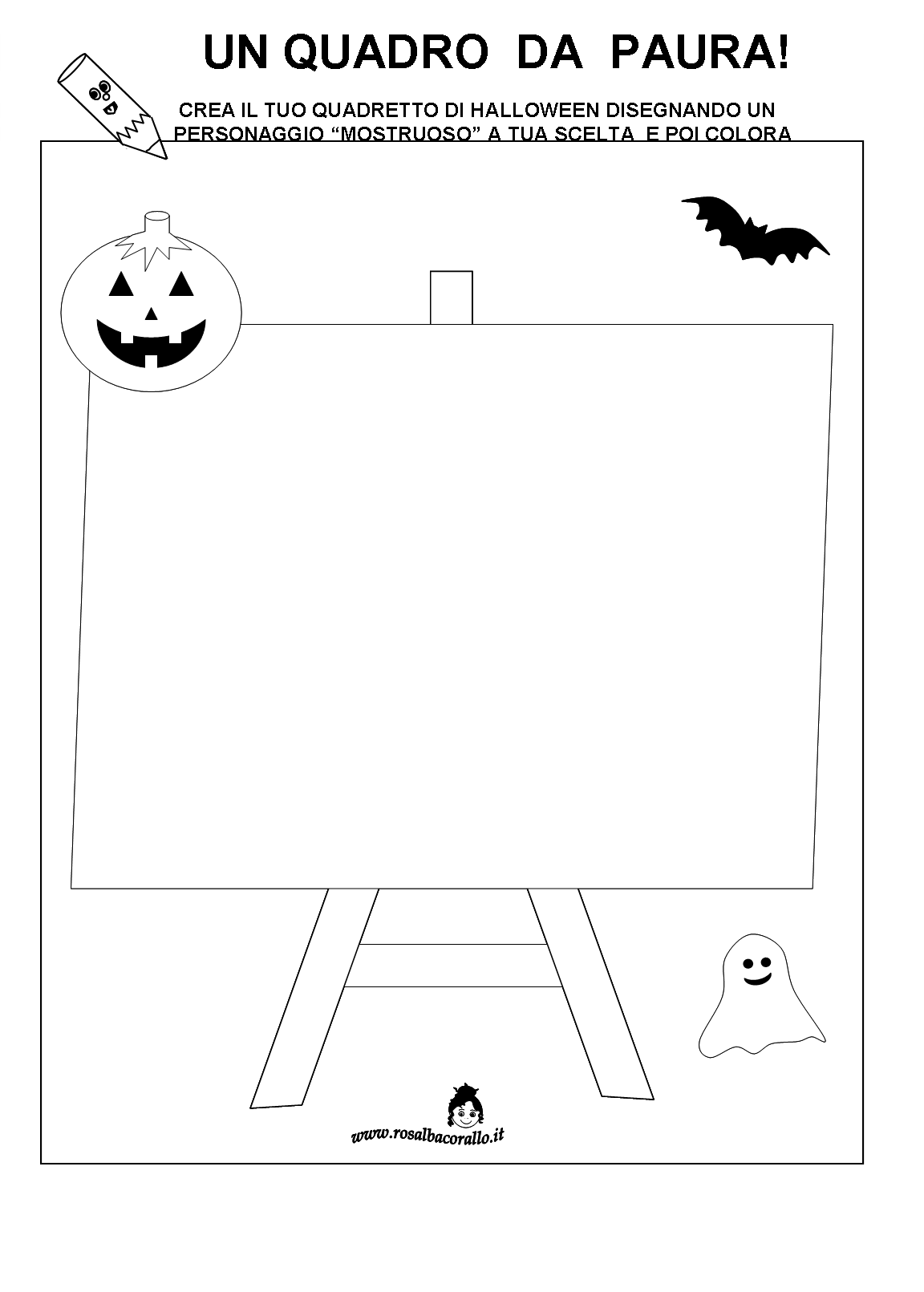 Halloween schede didattiche for Schede bambini 3 anni
