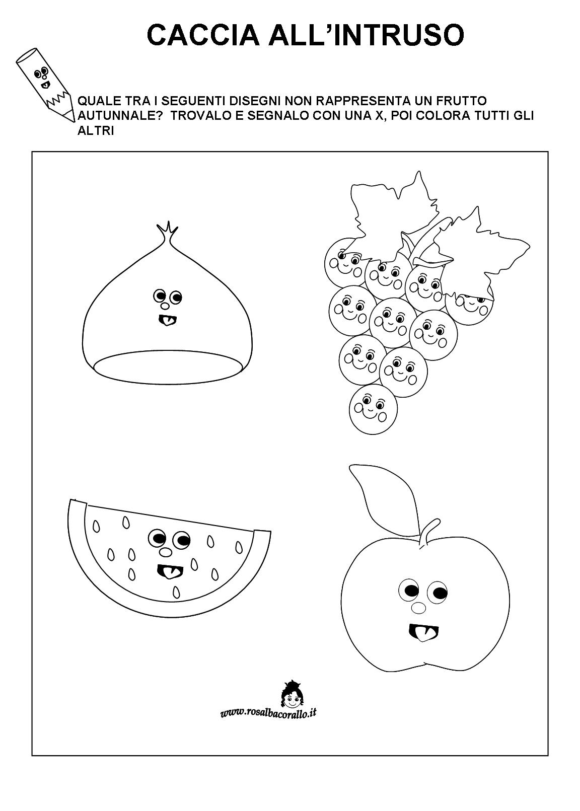 spesso Schede didattiche Autunno per bambini di 4/5 anni BK89