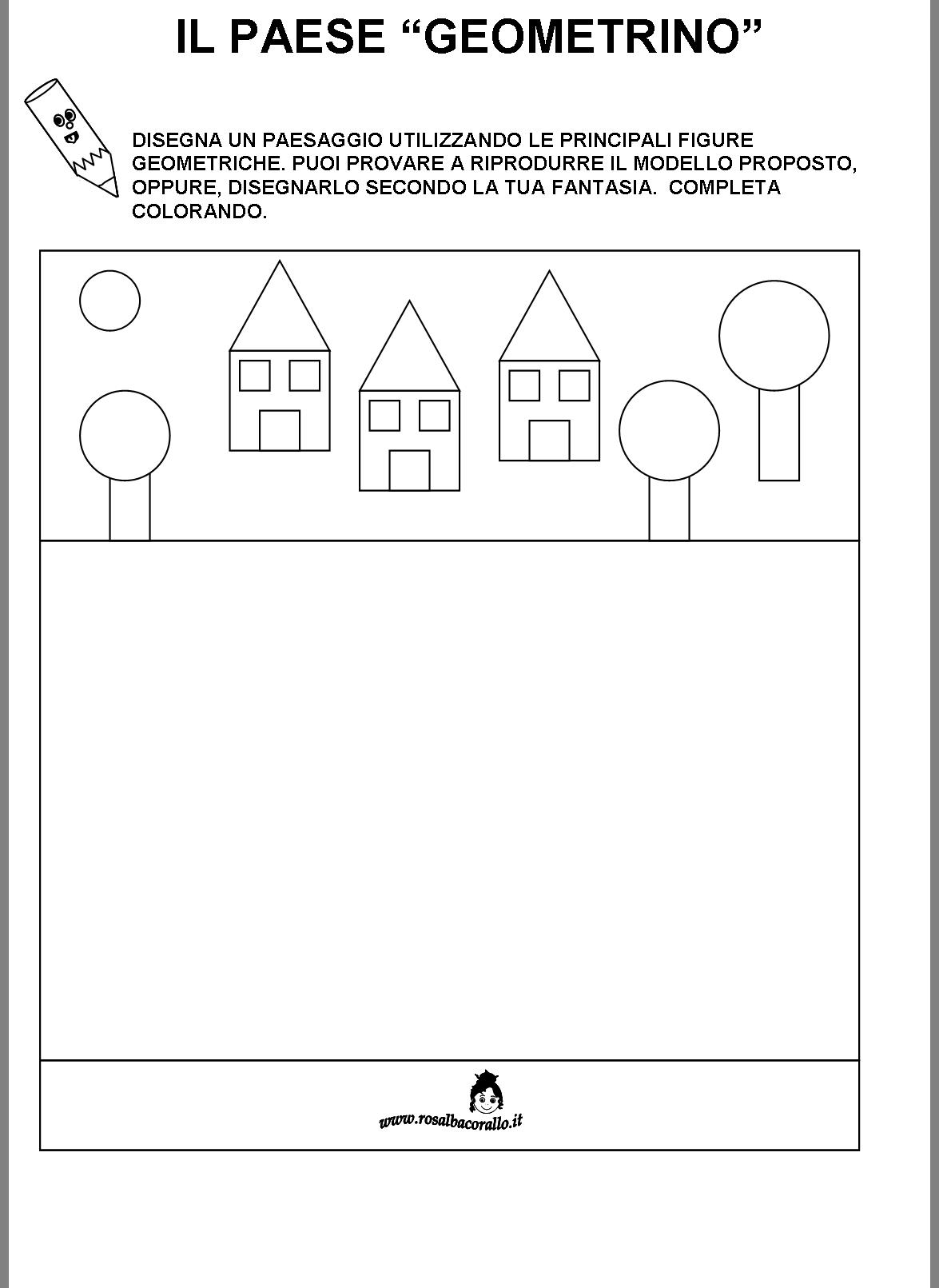 Super Schede didattiche Figure geometriche per bambini di 4/5 anni EE42